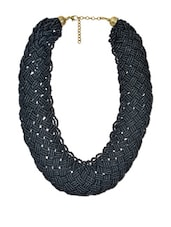 Contemporary Black Seed Bead Necklace - VR Designers