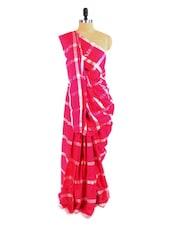 Gorgeous Pink Saree With Blouse Piece - ROOP KASHISH