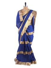 Gorgeous Blue Saree With Blouse Piece - ROOP KASHISH