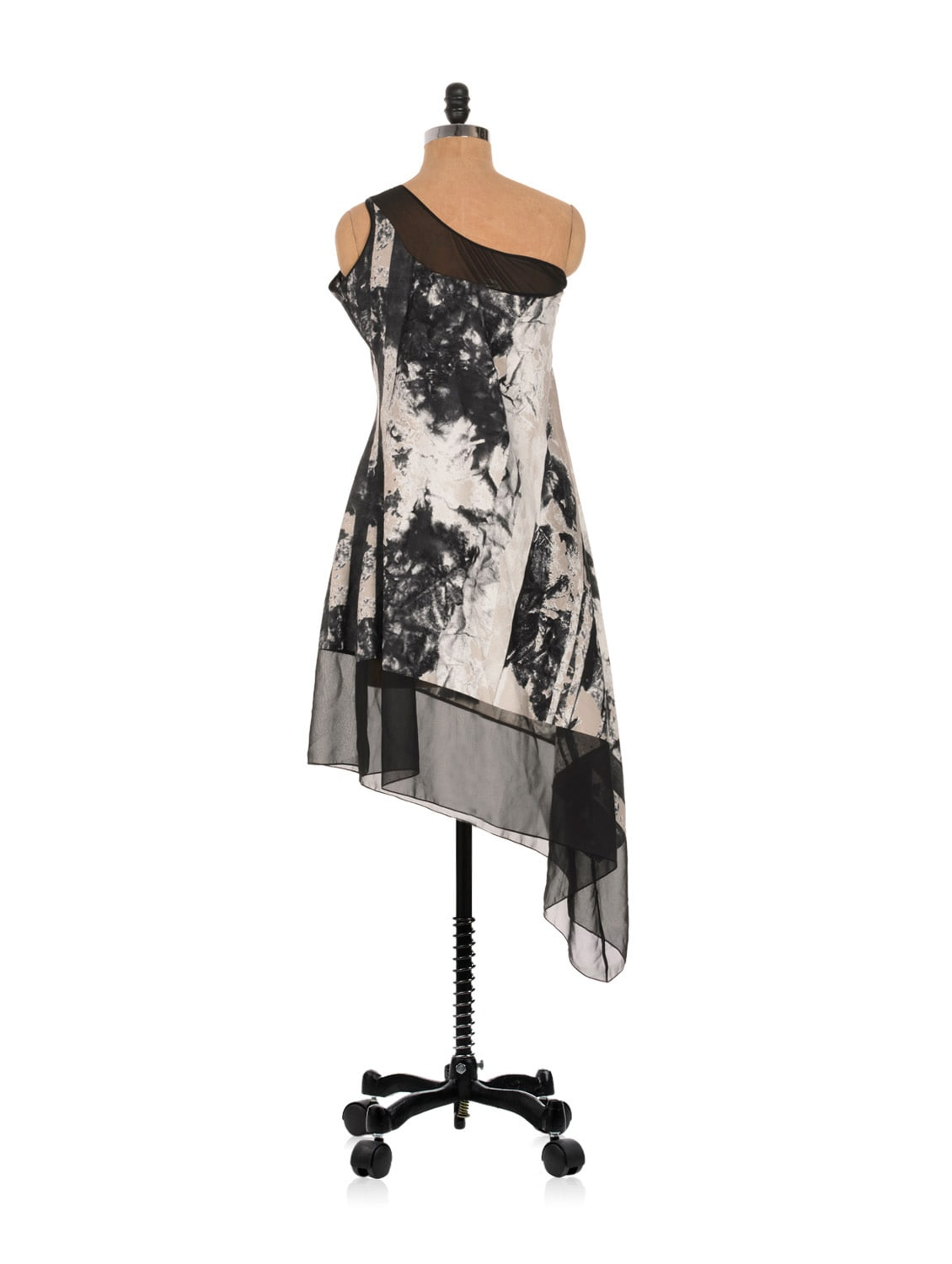 One Shouldered Printed Asymmetrical Dress - Nangalia Ruchira