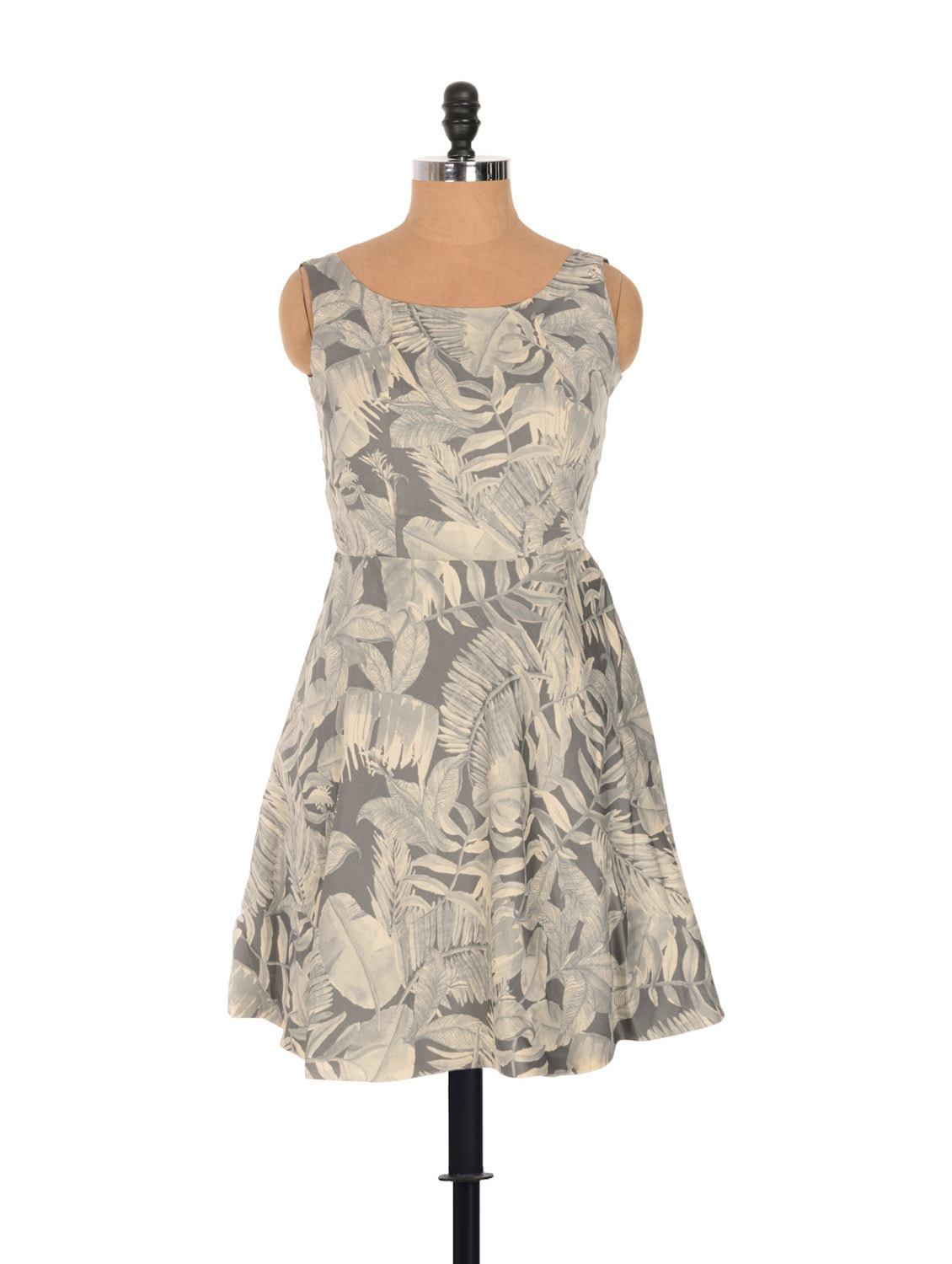 Tropical Print Dress With A Cut-out Back - Nangalia Ruchira