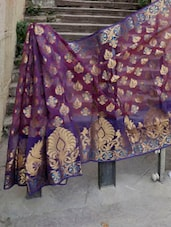 Magenta And Copper Banarasi Saree - BANARASI STYLE