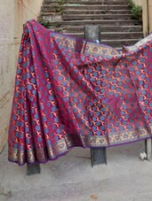 Pink And Blue Banarasi Saree - BANARASI STYLE