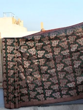 Katan Silk Patterned Banarasi Saree - BANARASI STYLE