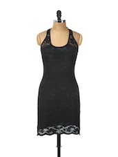 Sleeveless Black Lace Dress - Ruby