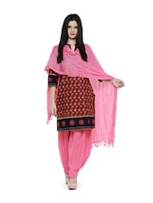 Pretty Pink Solid Patiala - ETHNIC