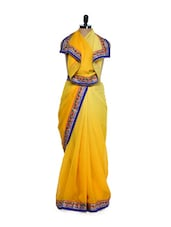 Ombre Yellow Georgette Saree - Get Style At Home