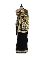 Luxe Black Foil Evening Saree - Get Style At Home