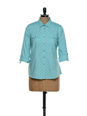 Sea Green Polka Dot Shirt - Overdrive