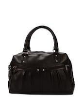 Stunning Brown Leather Handbag - Borsavela