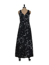 Black Floral Maxi Dress - Eavan