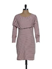 Light Pink And Black Striped Dress - Eavan
