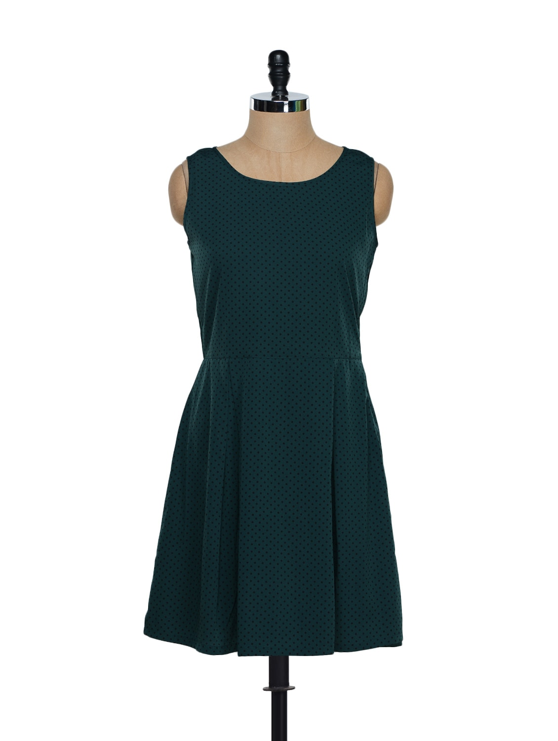 Green Polka Dot Dress - Eavan