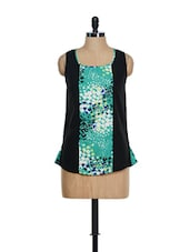 Black And Green Sleeveless Top - Eavan