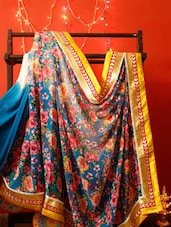 Floral Printed Georgette Saree With Zari - RiniSeal