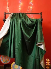 Emerald Green Silk Saree - RiniSeal