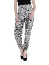 Floral Print White Trouser - URBAN RELIGION