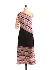 Off Shoulder Tribal Full-length Dress - Free Spirited