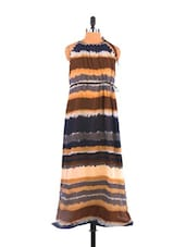 Full Length Horizontal Stripe Dress - Free Spirited