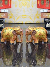 Royal Elephant Home Decorative - ECraftIndia