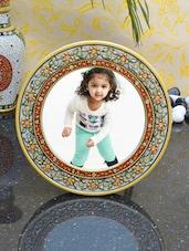 Decorative Round Photo Frame With Flowers - ECraftIndia