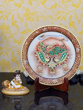 Gorgeous Marble Home Decorative With Lord Krishna Idol - ECraftIndia