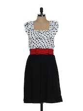 Colourblocked Polka Dot Dress - Eavan
