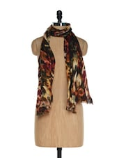 Multi Coloured Trendy Scarf With Digital Prints - Toscee - 901254