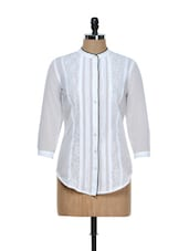 White Transparent Shirt With Black Piping - Holidae