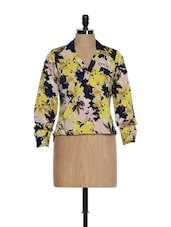 Multi Polyester Crepe Full Sleeves Printed Top - HERMOSEAR