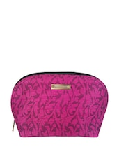 Pink Floral Cosmetic Pouch - Haute Potli