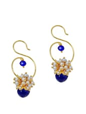 Exquisite Royal Blue Stone Drop Earrings - Maayra