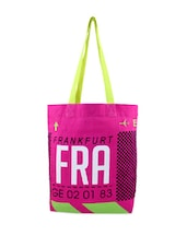 Bright Pink And Neon Green Trendy Tote Bag - Be... For Bag