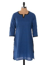 Blue And Black Printed Kurta - Jaipurkurti.com