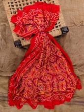 Red Georgette Printed Saree - Jaipurkurti.com