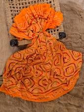 Orange Georgette Printed Saree - Jaipurkurti.com