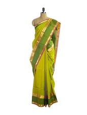 Lovely Festive Green Silk Saree - Pothys
