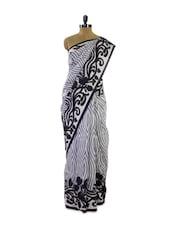Fashionable Black And Grey Silk Saree - Pothys