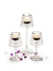 Glass Tealight Lamps (Set Of 3) - Importwala