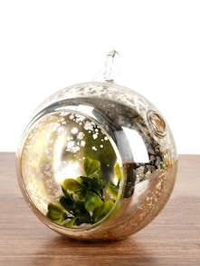 Gold Speckled Hanging Medium Glass Sphere