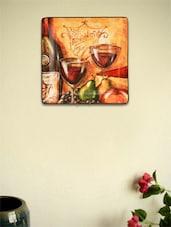 Wine Glass Ceramic Wall Plate - Importwala