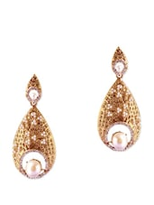 Elegant Gold And Pearl Statement Earrings - Rich Lady