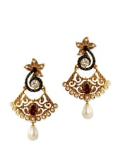 Lovely Gorgeous Red And Green Stone Earrings - Rich Lady