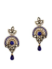 Alluring Blue Stone Party Earrings - Rich Lady
