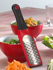 Red Stainless Steel Grater - Home Collective - Microplane