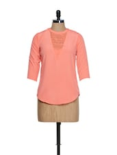 Peach Front Lace Top - Femella