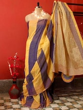 Striped Dual Tone Resham Saree - Cotton Koleksi