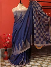Half And Half Raw Silk Saree - Cotton Koleksi