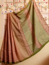 Earthy Tone Resham Saree - Cotton Koleksi