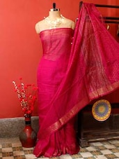 Magenta Resham Saree - Cotton Koleksi